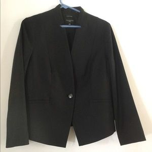 Talbots Italian Flannel Black Jacket 12 P